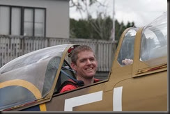 Spitfire Flight - One happy boy!