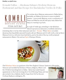 Komali Restaurant Review