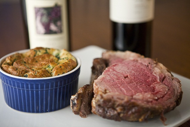 Prime Rib and Spinach Souffle