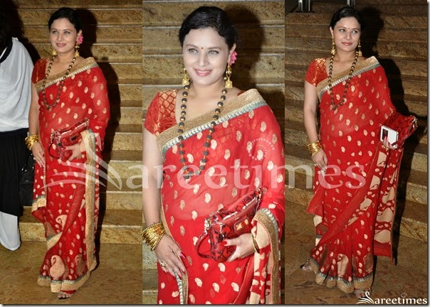 Red_Embellished_Saree