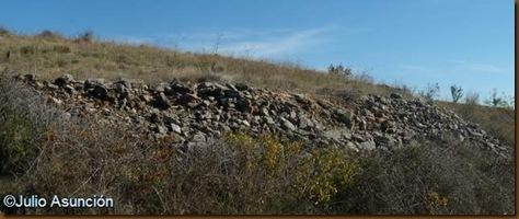 Derrumbe de muralla del Castro de Gazteluzar - Mañeru - Cirauqui