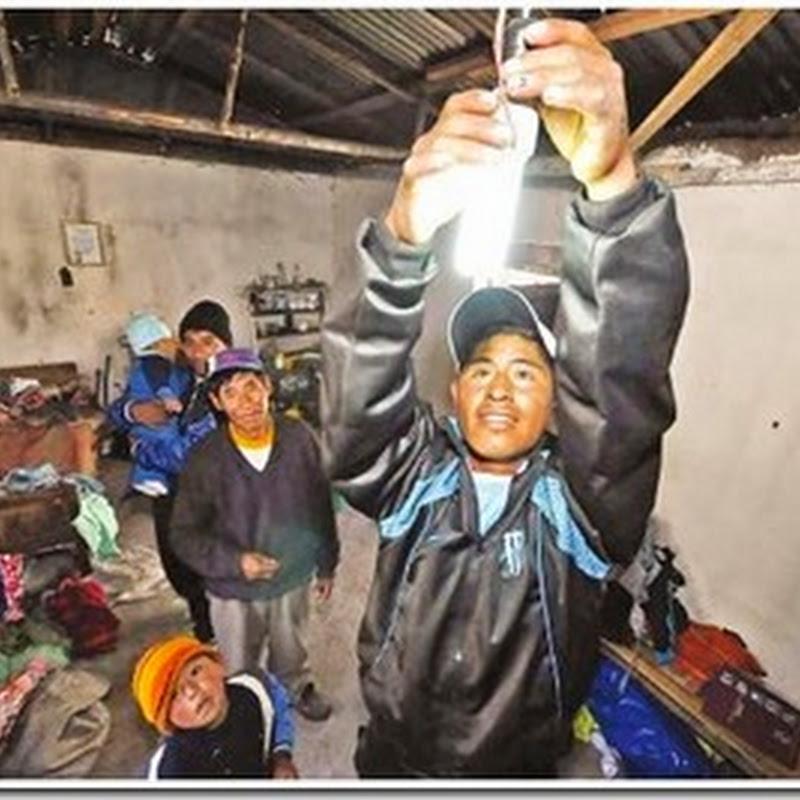 Amaguaya, la localidad que conquistó la luz con un proyecto de energía limpia y renovable (La Paz)
