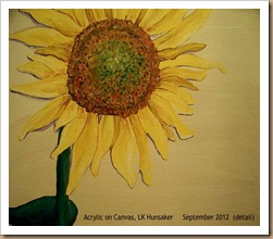 Sunflower: acrylic on canvas