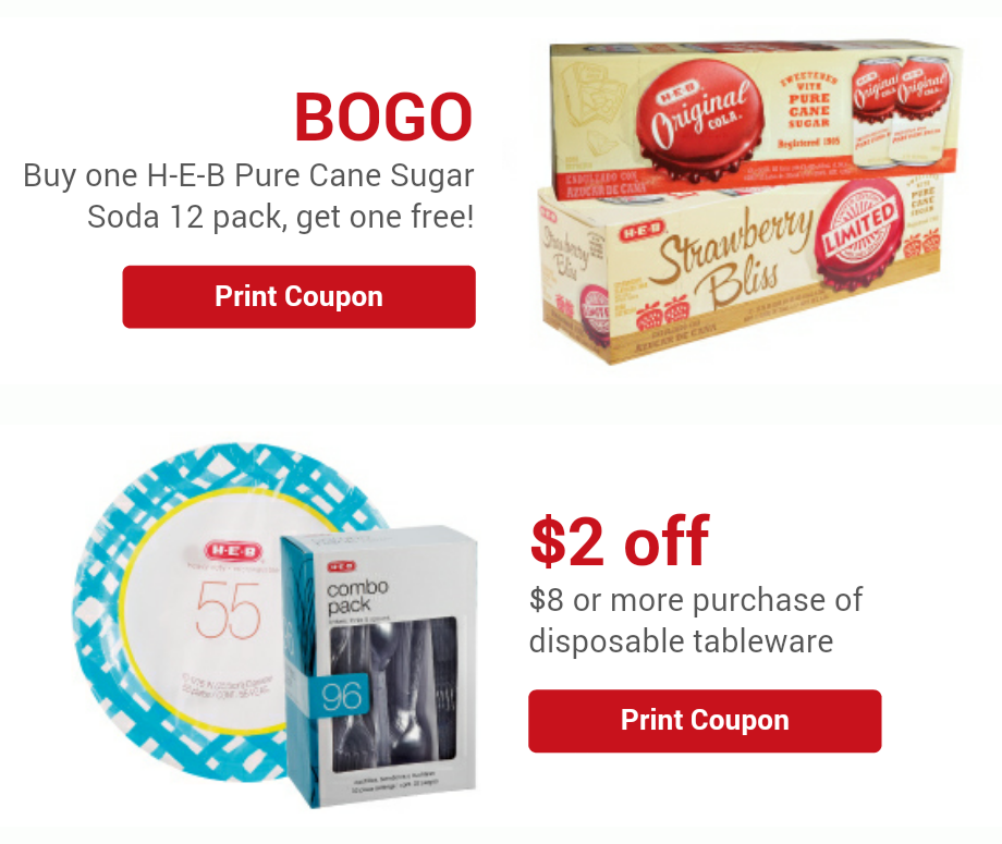 Disposable tableware coupons