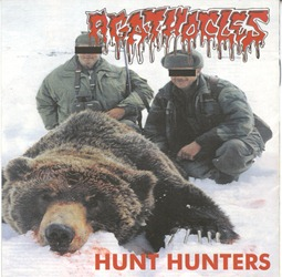 Suppository_(Raised_By_Hatred)_&_Agathocles_(Hunt_Hunters)_Split_CD_ag_front