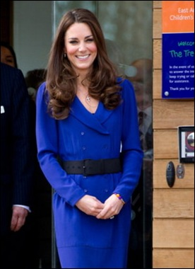 Kate Middleton's Mother Inspired Blue Dress