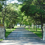 Entrance drive to Jesuit Retreat House in Oshkosh, WI