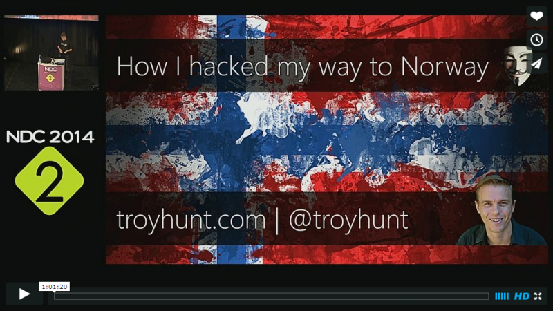 """How I hacked my way to Norway"" video"