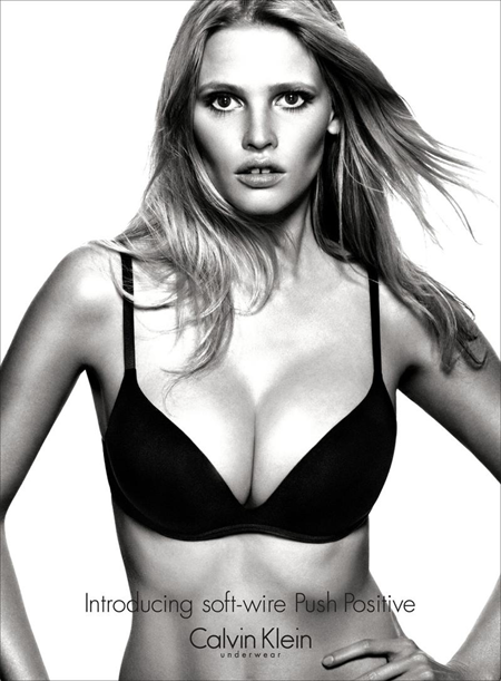 Lara Stone for Calvin Klein Push Positive Fall 2012