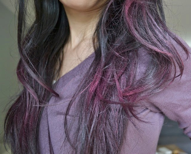 splat hair chalk dusty rose