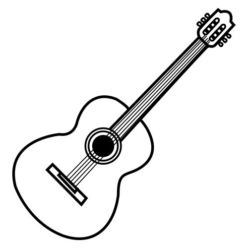 Guitarra española dibujo para colorear - Imagui