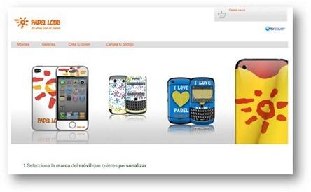 """Personaliza tu móvil con los mejores diseños de la firma Pádel Lobb: los """"covers"""" ya a la venta."""