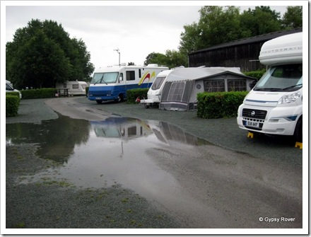 This flooding was what greeted us in the camp this morning.