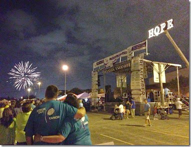 Relay for Life with Fireworks