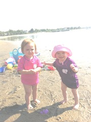 Bella first day beach 6.8.11