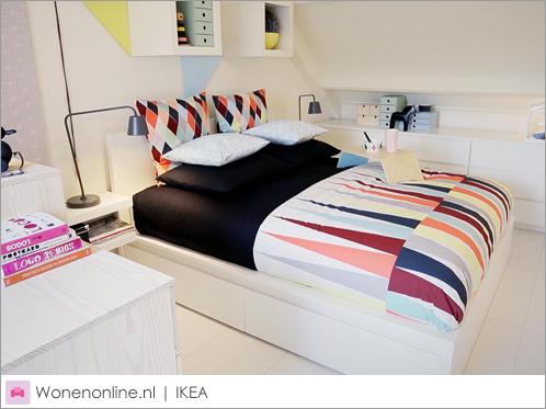 ikea kleine slaapkamer inrichten: schuin dak maak een slaapkamer, Deco ideeën