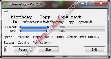 Copy File Dengan Cepat Menggunakan ExtremeCopy