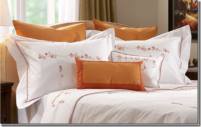 orange bedding