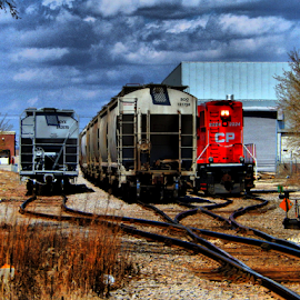 CP Rail yard by Marcellino Guarnero - Transportation Trains