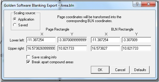 F47 Golden Software Blanking Export
