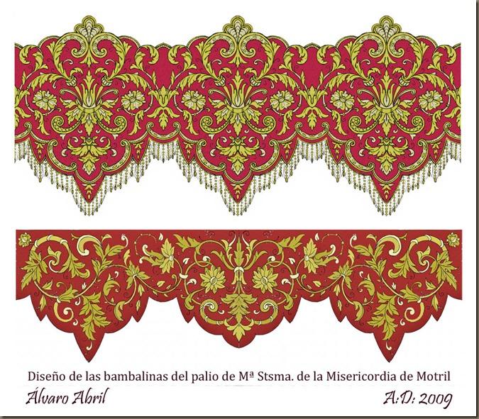 diseño bambalinas caidas paso de palio maria santisima misericordia motril 2009 alvaro abril