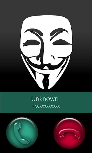 BIG caller ID Theme Anonymous