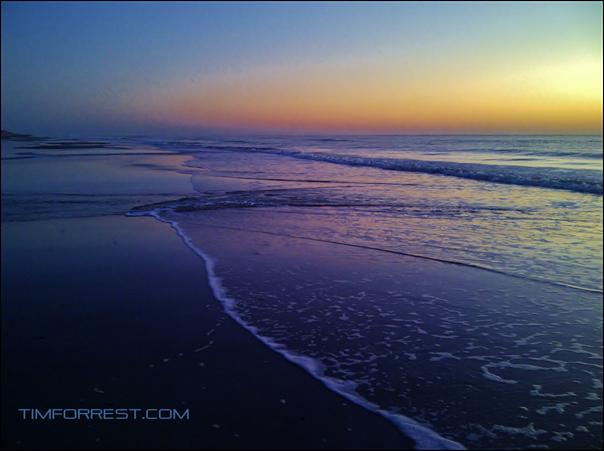 morning on beach timforrest.com