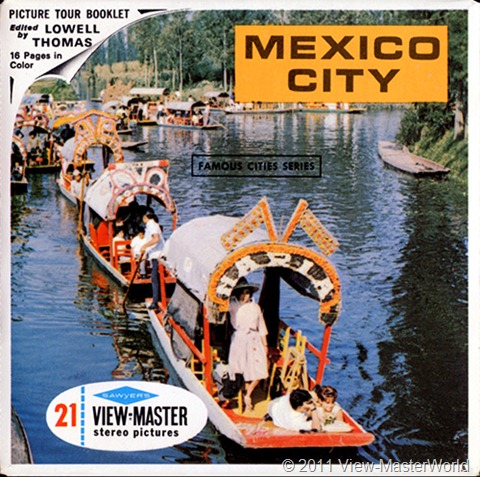 View-Master Mexico City (B002), Packet Cover