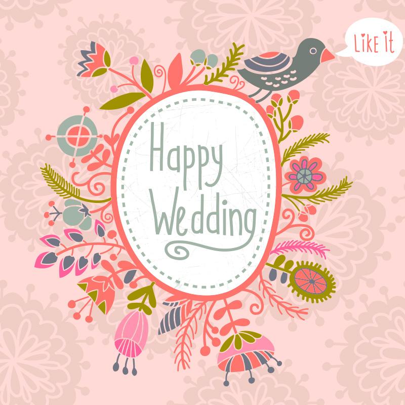 Happy wedding gentle pink