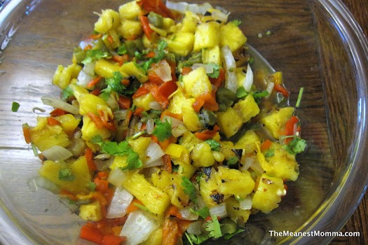 Grilled Pineapple Spicy Salsa