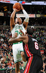 lebron james nba 130127 mia at bos 09 Boston Outlasts Miami in 2nd OT. LeBron Debuts Suede X PE!