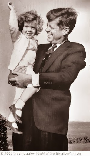 'President John F. Kennedy and daughter Caroline, 2 in Hyannisport,' photo (c) 2003, thesmuggler- Night of the Swallow