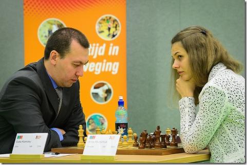 Gata Kamsky vs Anna Muzychuk, round 6, ACP Golden Classic 2012, Amsterdam