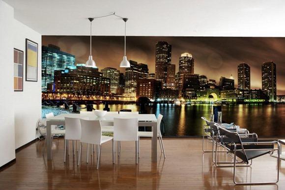 Comedores convencionales decorados con atractivos murales