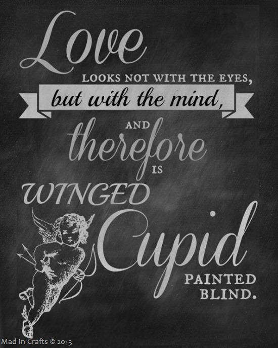printable chalkboard shakespeare quotes for valentine s day