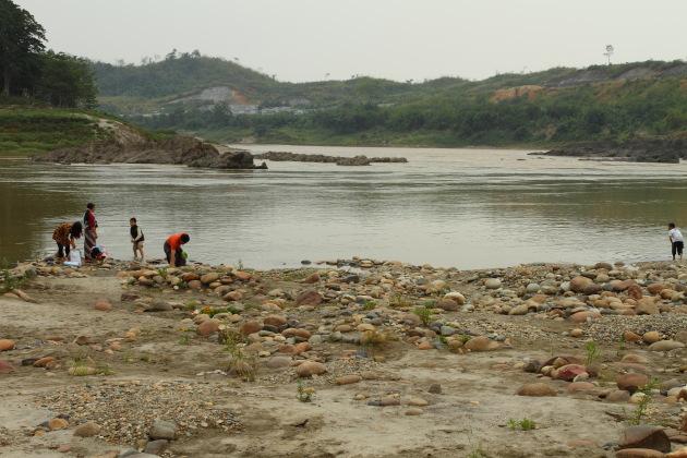 Scenic confluence of Maikha and Malikha rivers, Myitsone, Burma