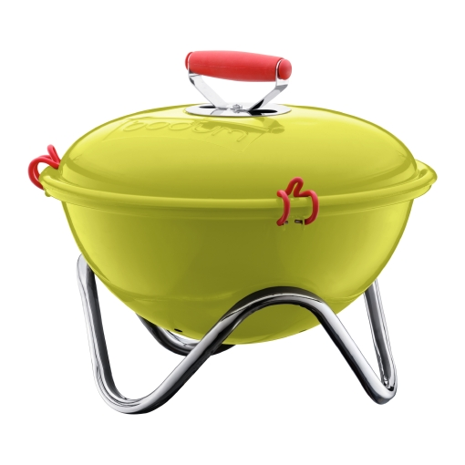 These Bodum grills come in a variety of cool colors, which will add spice to your outdoor space. (bodum.com)