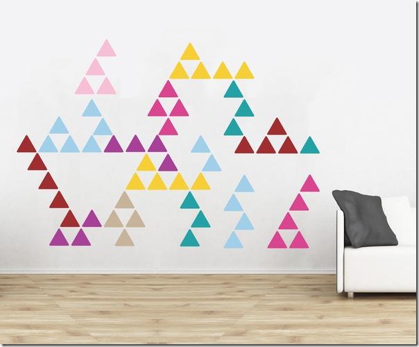 case e interni - tendenza decorazione  triangoli - Triangles 6