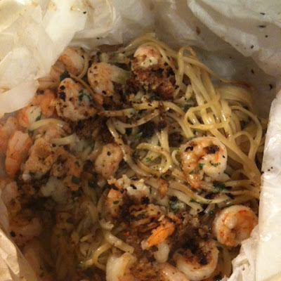 Shrimp Linguine with Garlicvermouthbutter.