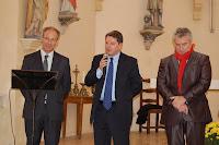 2012 - Inauguration de la mairie - présentation du tableau en bois