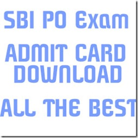 SBI PO CALL LETTER DOWNLOAD 2016