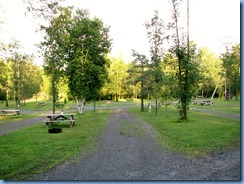6899 Sleepy Cedars Campground Greely Ottawa - evening walk shows empty campground