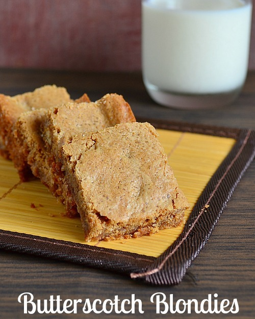 Easy Butterscotch Blondies Recipe