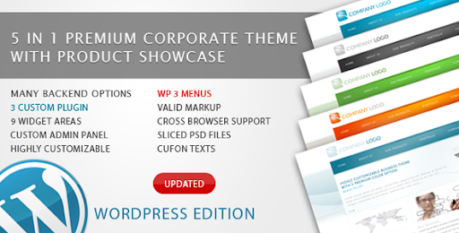 RT-Theme 6 Bussiness Theme 5 in 1 For Wordpress - Business Corporate