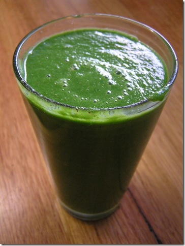pear greens smoothie