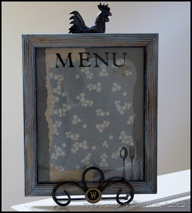 Dry Erase Menu Board (3)