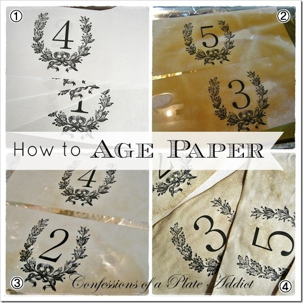 CONFESSIONS OF A PLATE ADDICT How to Age Paper