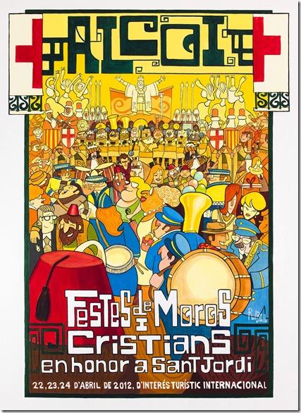 Cartell Festes Moros Cristians Alcoi 2012
