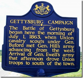 Gettysburg Campaign about First Day of Battle outside of Gettysburg, PA