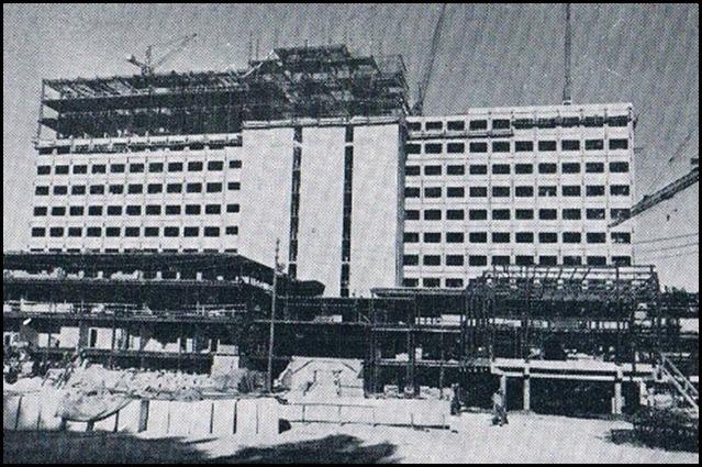 Ciudad Sanitaria La Fe, en construcción. 1968